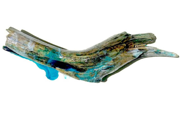 Beached  driftwood and resin
